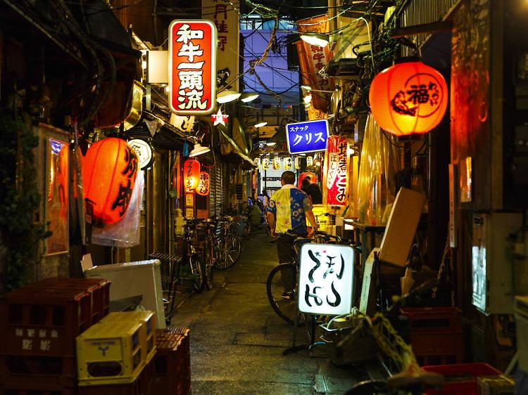 Throw yourself into Japanese nightlife at Sankaku Chitai yokocho