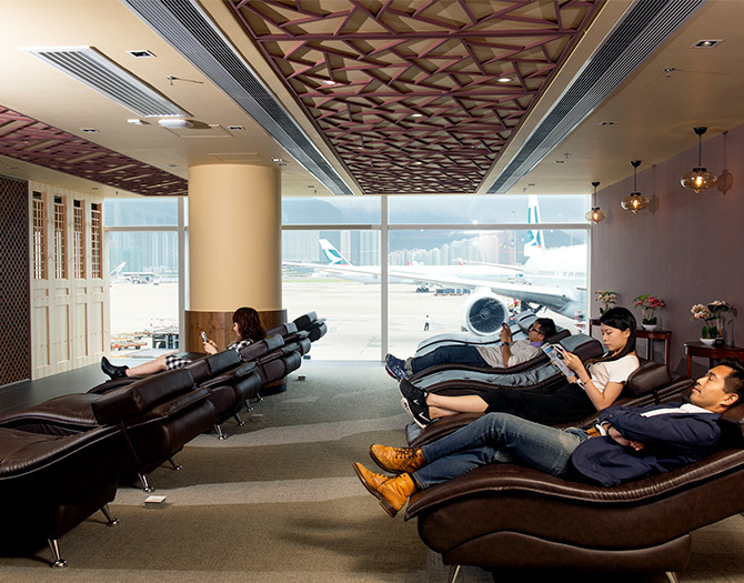 Hong Kong airport relaxation corner