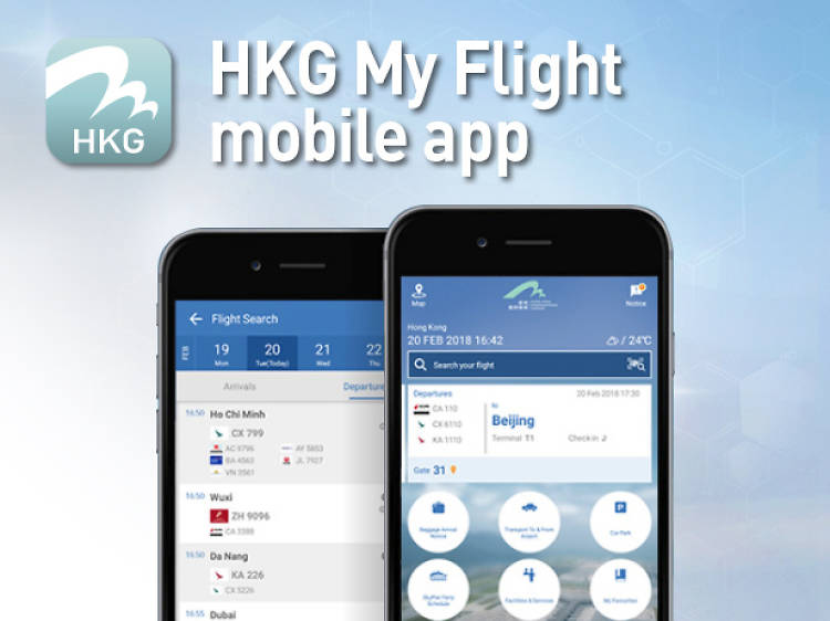 Stay updated with the HKG My Flight app