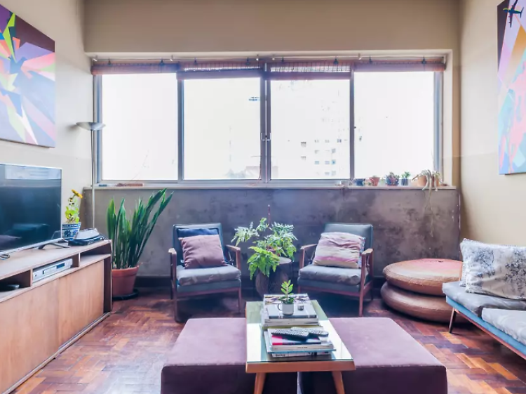 An eclectic room in Paulista