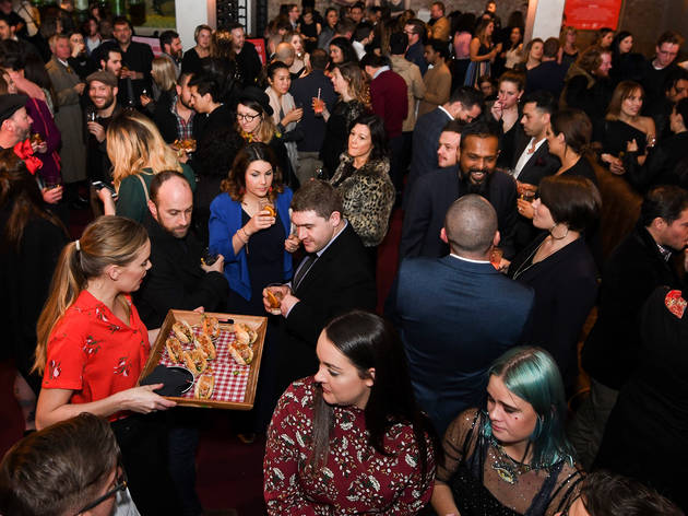 People eating at the Time Out Food Awards 2018