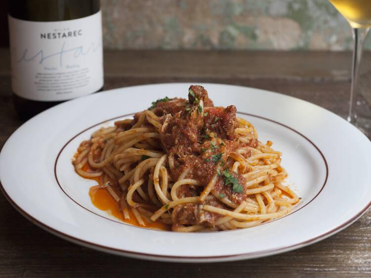 Les spaghettis à l'araignée de mer d'Uncino