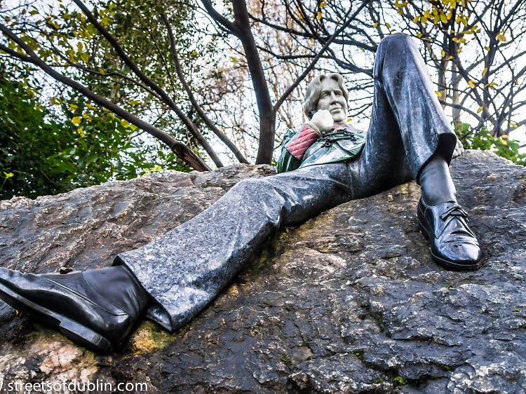 Oscar Wilde Memorial Sculpture
