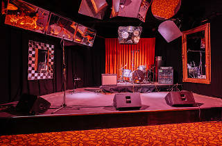 The band stage at Lazybones