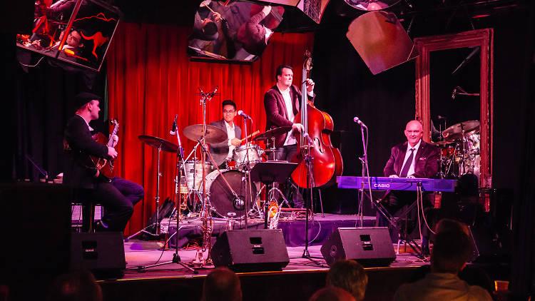 James Morrison band on stage