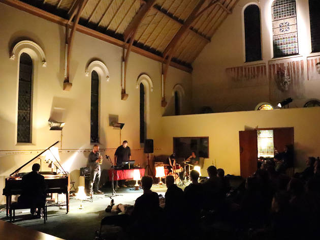 Inside the Annandale Creative Arts Centre on a jazz night