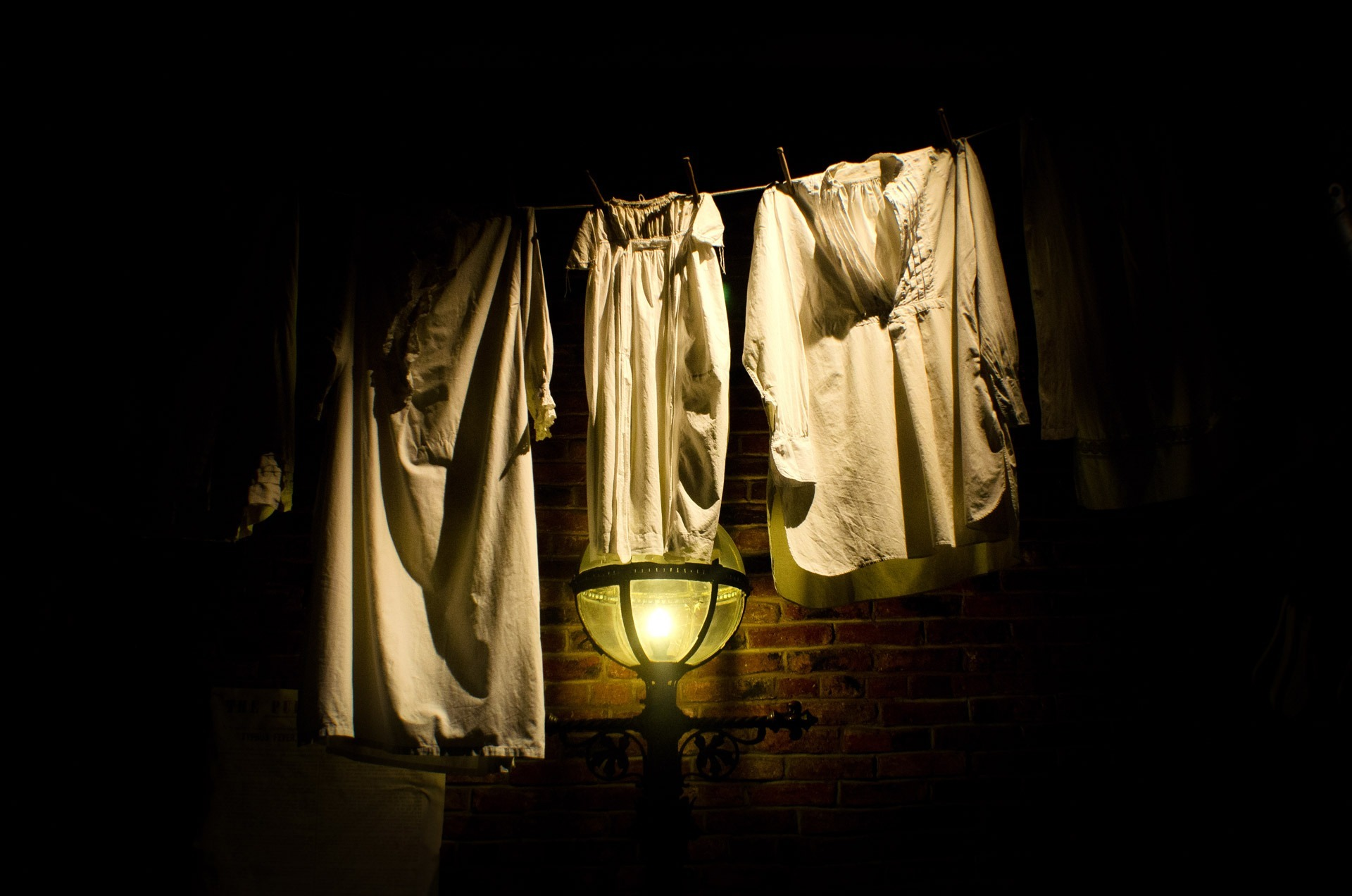 hang up clothes at night