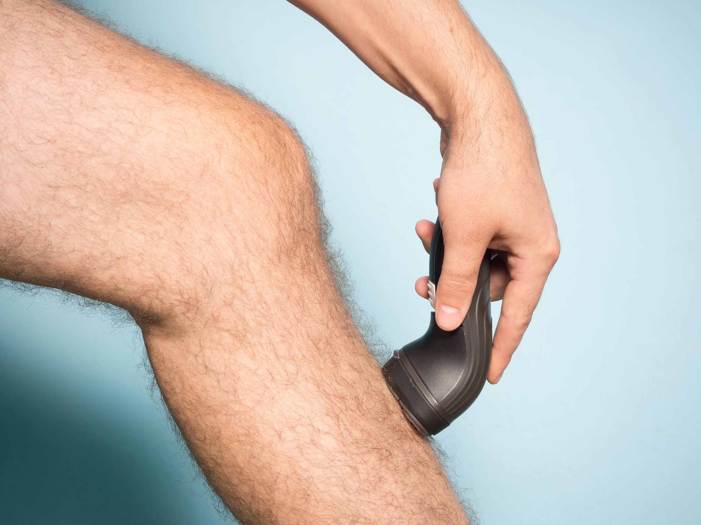 shaving leg hair