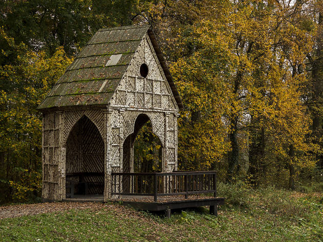 Old fisherman house in Maksimir park