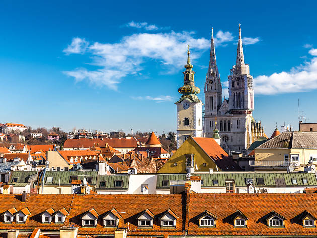 Zagreb With Cathedral And Church Tower - Croatia
