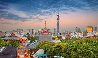 Tokyo city skyline - Sensoji temple, Asakusa and Skytree