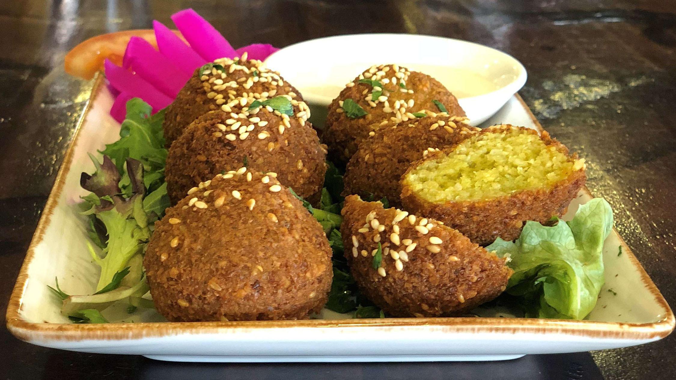 Falafel plate at Cedrus Lebanese Restaurant