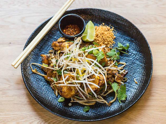 Chicken pad Thai at Spice Den Brisbane