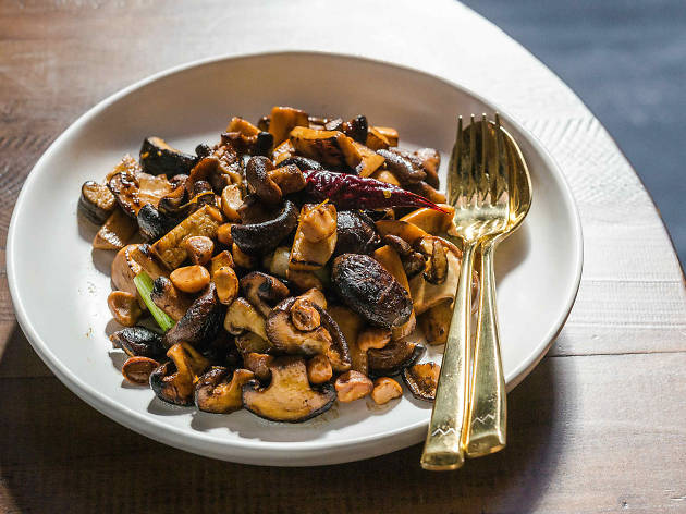 Kung pao mushrooms at Little Valley