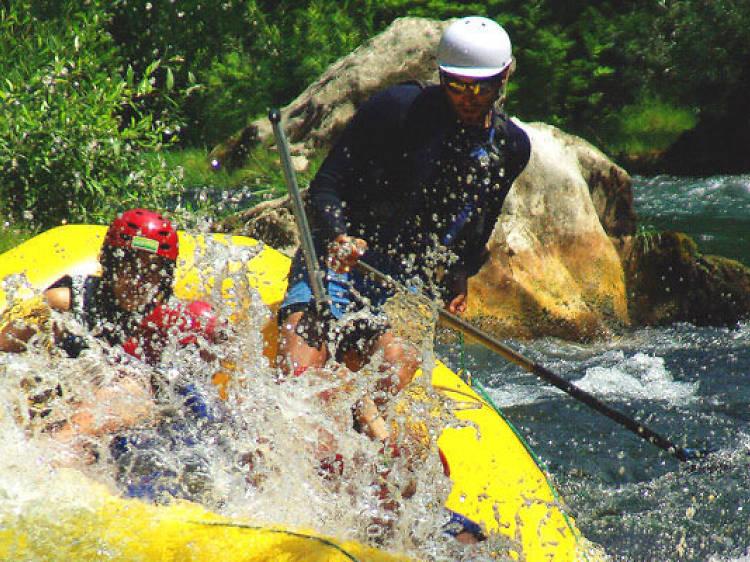 Zipwire across the Cetina river