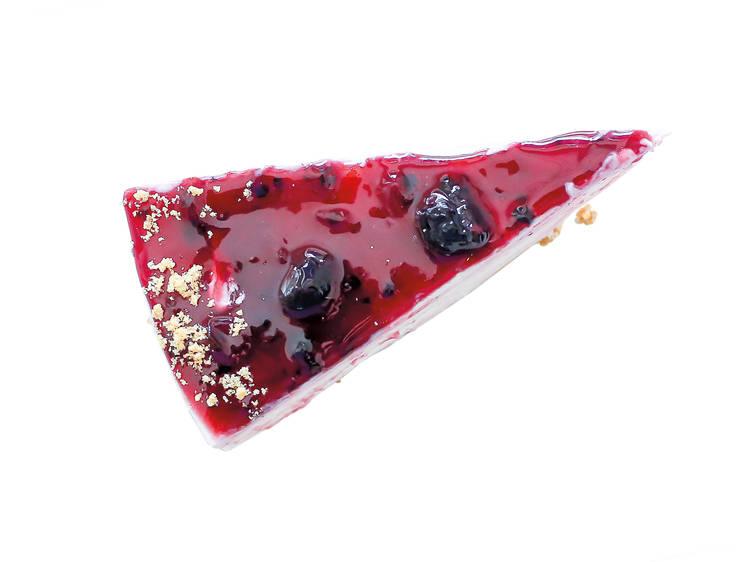 Cheesecake de frutos vermelhos da Casinha Boutique Café