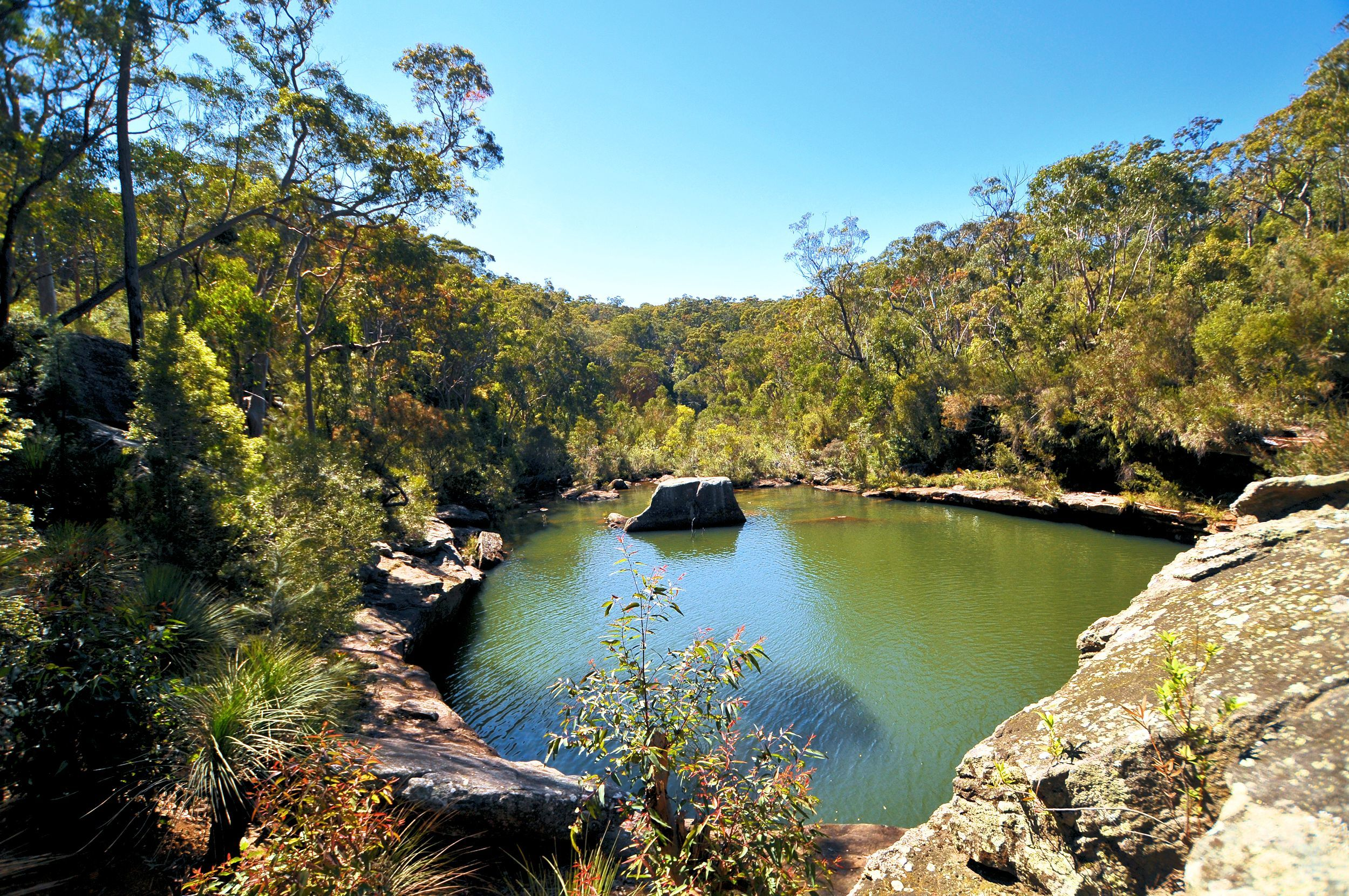 Minerva Pool in Dharawal National Park