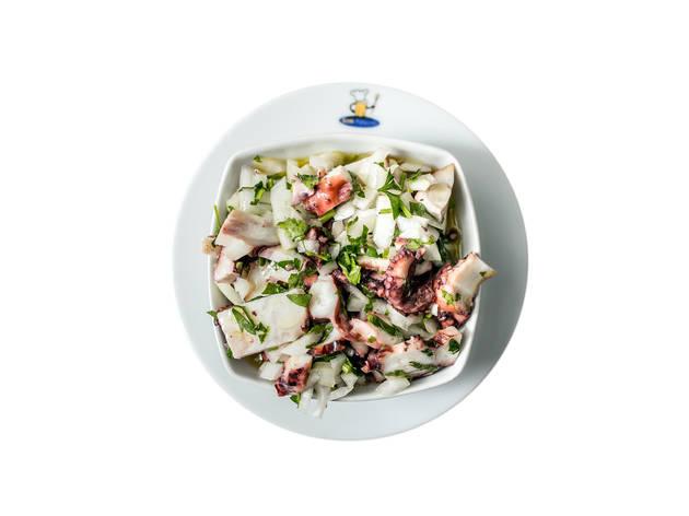 Três sítios para comer salada de polvo