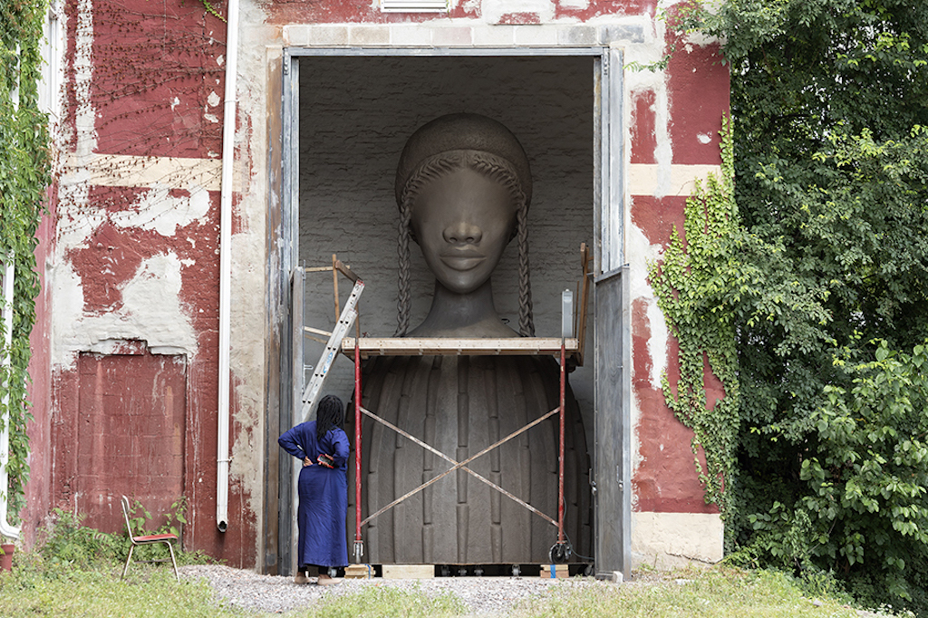A 16-foot-tall bust of a black woman inaugurates the High Line's exciting new public art venue