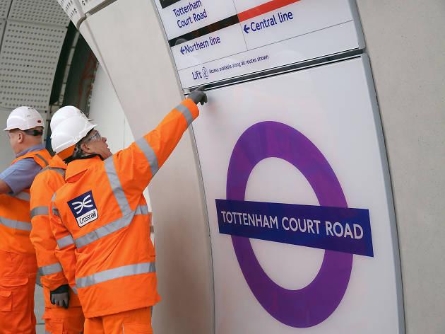 Elizabeth line at Tottenham Court Road