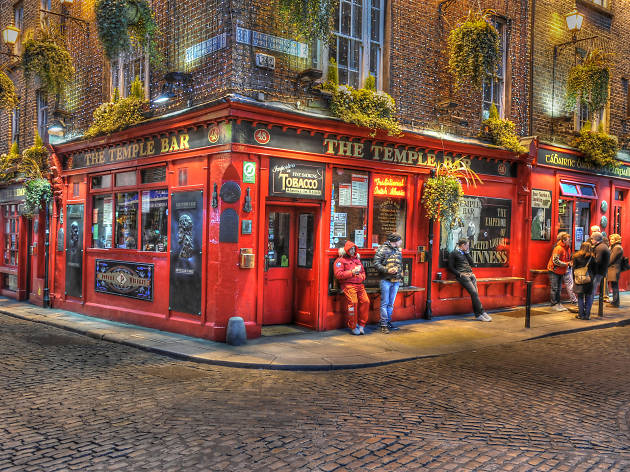 Temple Bar is one of the most famous bars in Dublin, Ireland