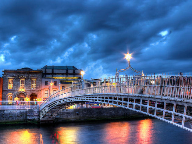 Walk the Ha'Penny Bridge, one of the best free things to do in Dublin