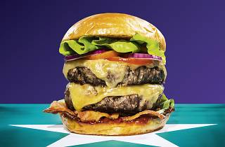 Battle of the Burger, Deliveroo campaign. Do not reuse.