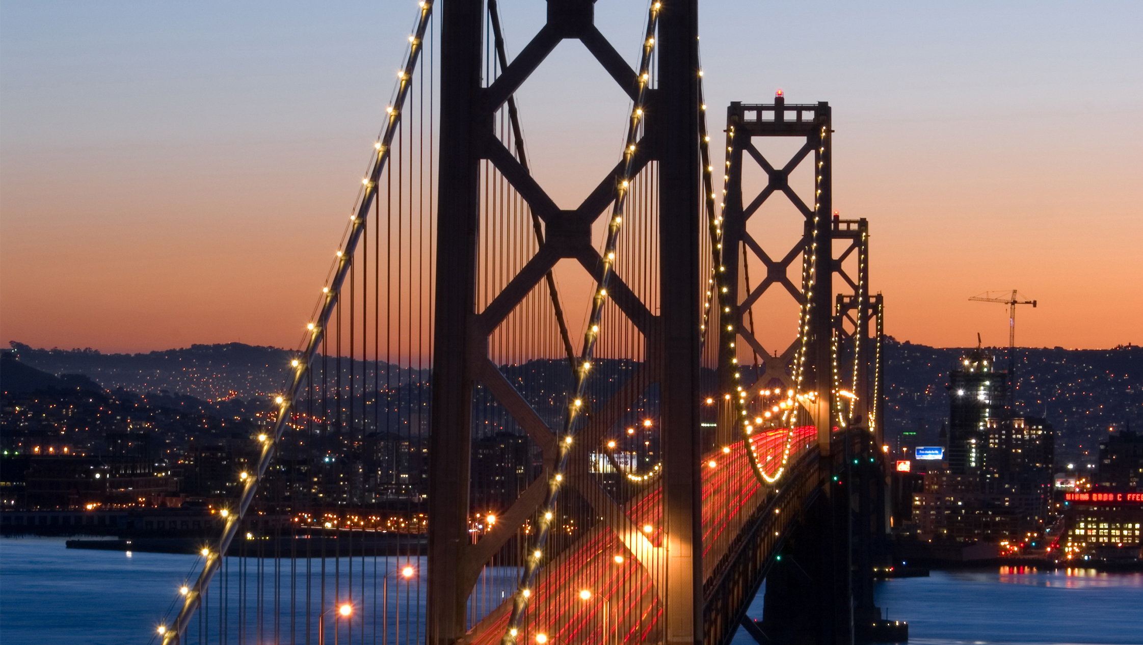Bay Bridge, San Francisco at dusk