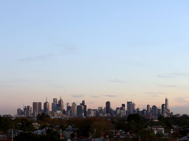 Melbourne skyline from Ruckers Hill, Northcote