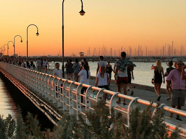 St Kilda Pier is being completely rebuilt with a new penguin viewing area