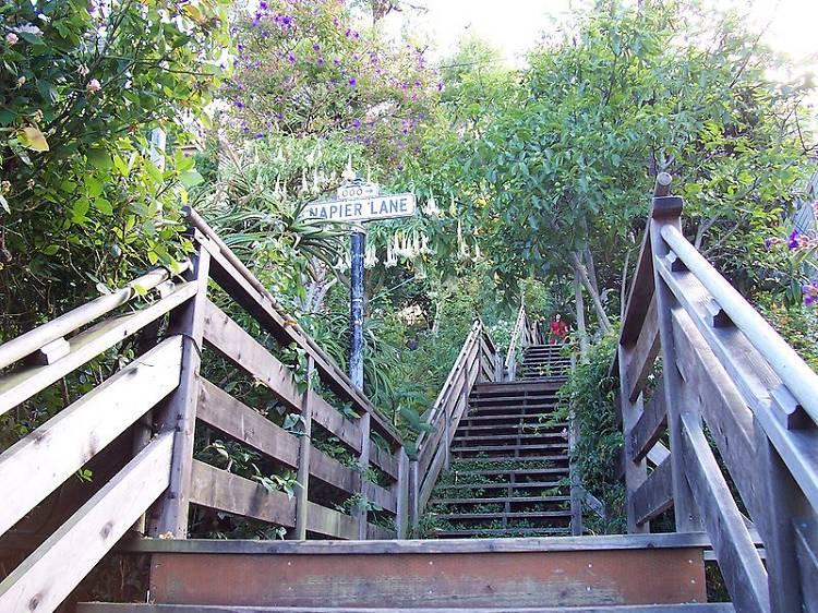 Climb a secret stairway