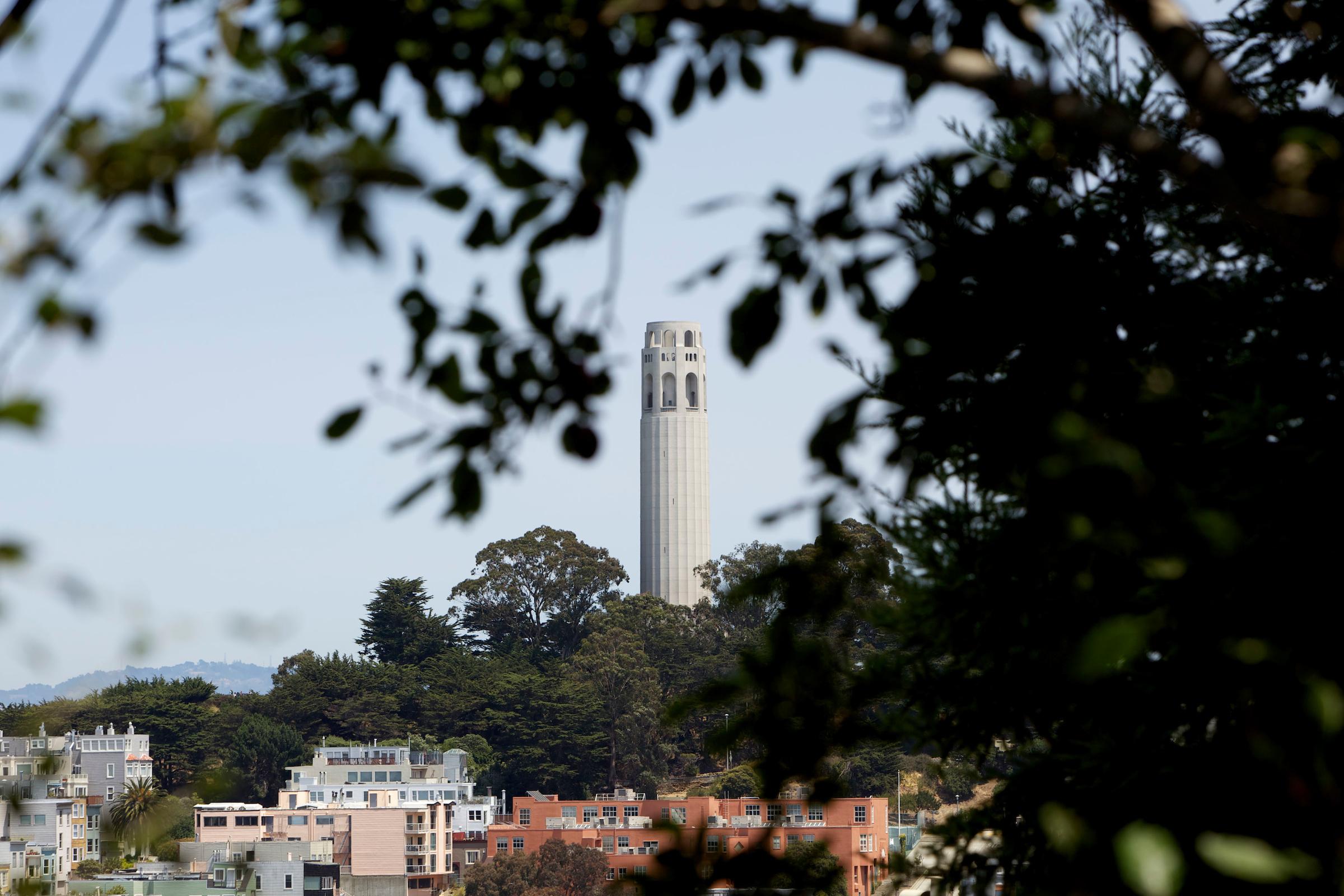 Coit Tower, Telegraph Hill, landmark, tourist attraction, culture, North Beach