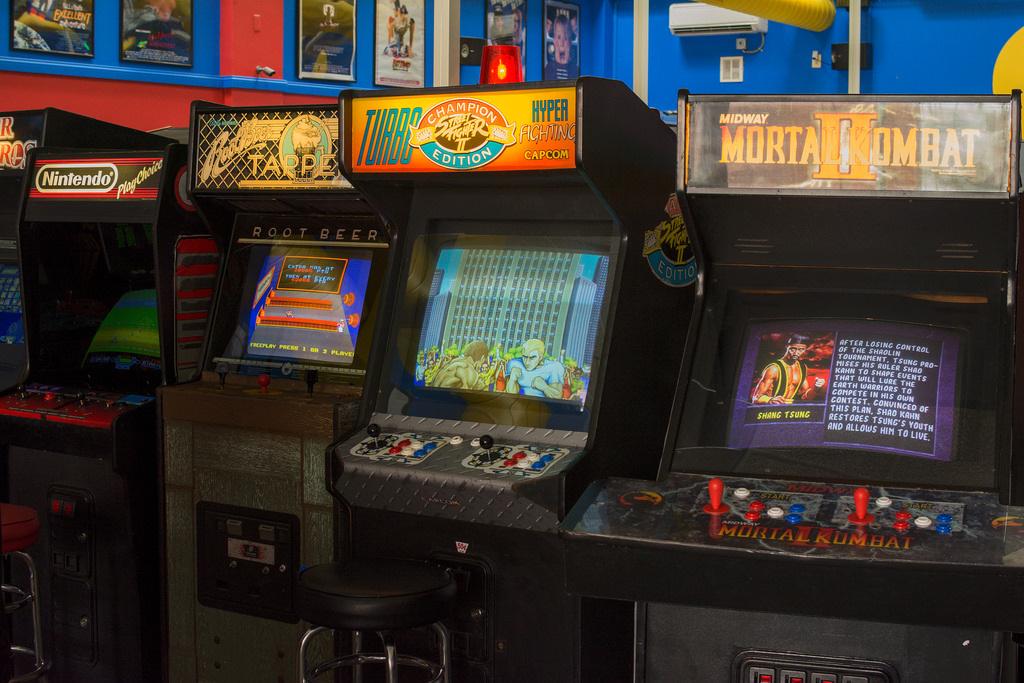Vintage arcade game