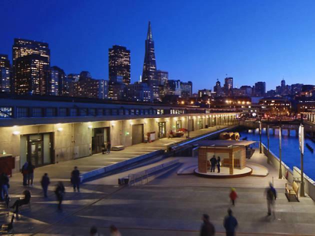 Exterior city shot of Exploratorium