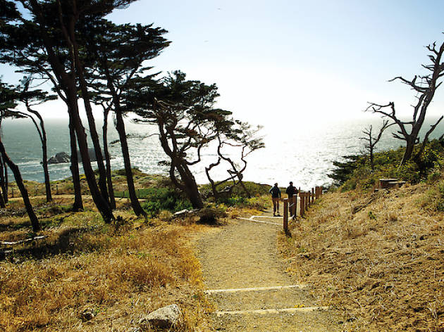 Couple hiking in Lands End