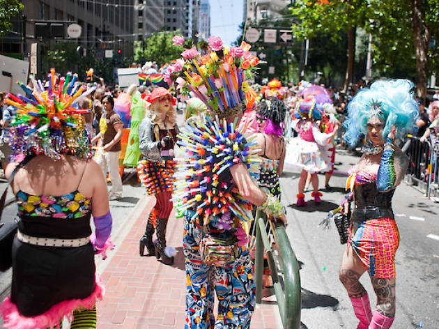 LGBT - Pride Parade Trio of Marchers