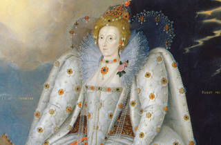 (Marcus Gheeraerts the Younger,Queen Elizabeth I (The 'Ditchley' portrait), © National Portrait Gallery, London (detail))