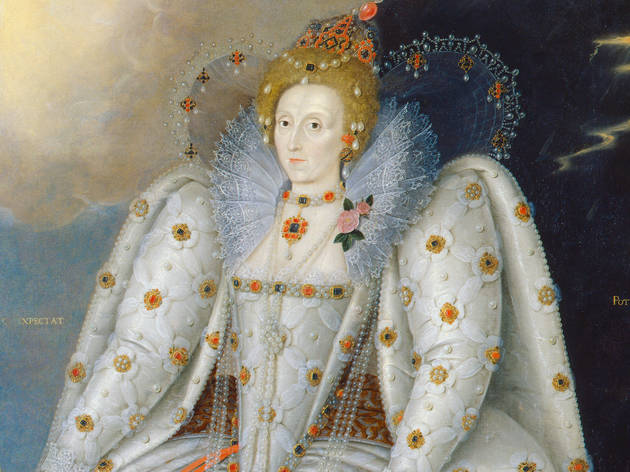 Marcus Gheeraerts the Younger,Queen Elizabeth I (The 'Ditchley' portrait), © National Portrait Gallery, London (detail)