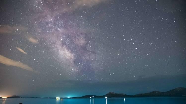Stars, Sea, Milky Way, Biograd, Na, More, Night