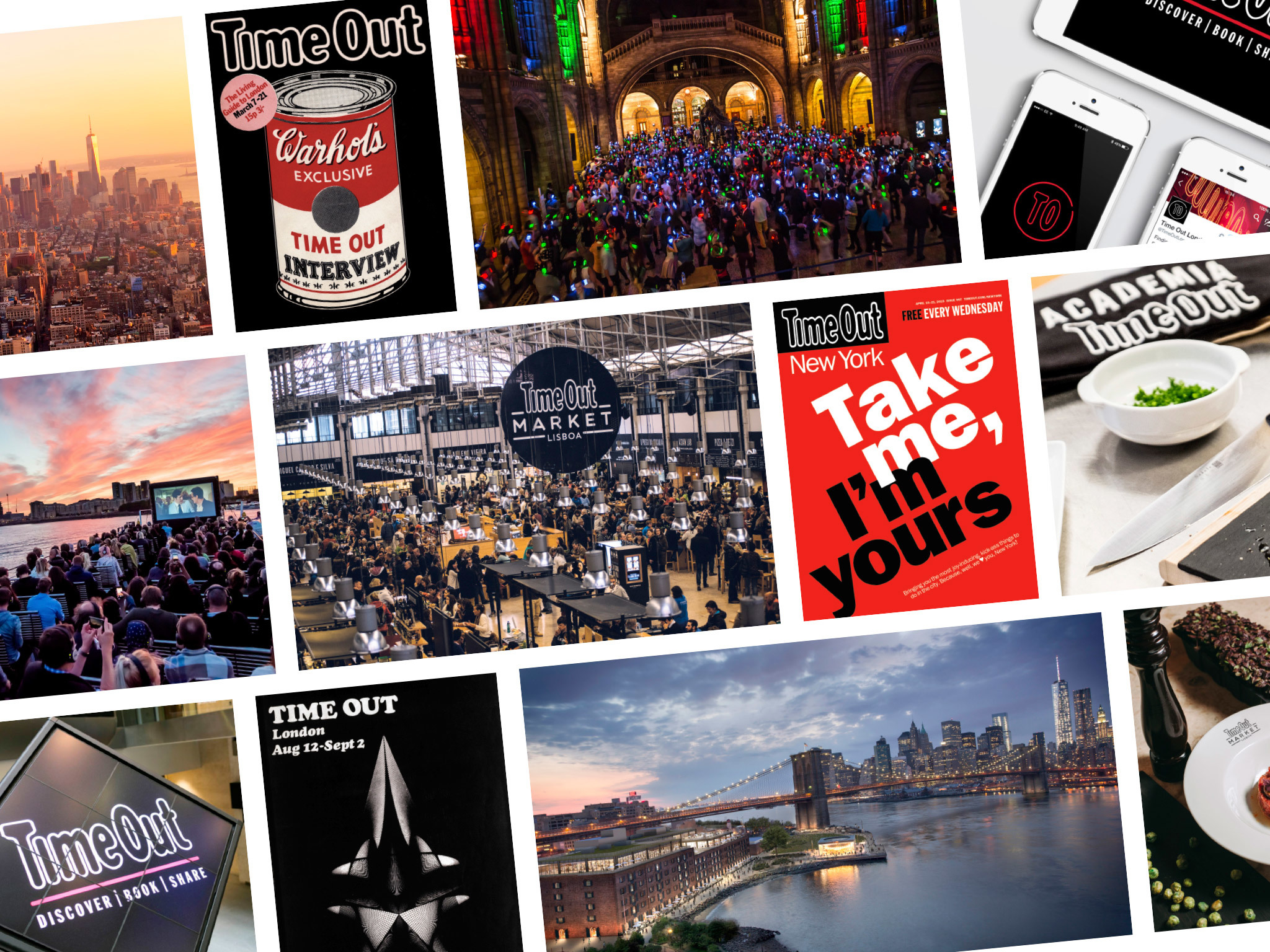 History of Time Out, the global media and entertainment brand that inspires people to make the most of the city