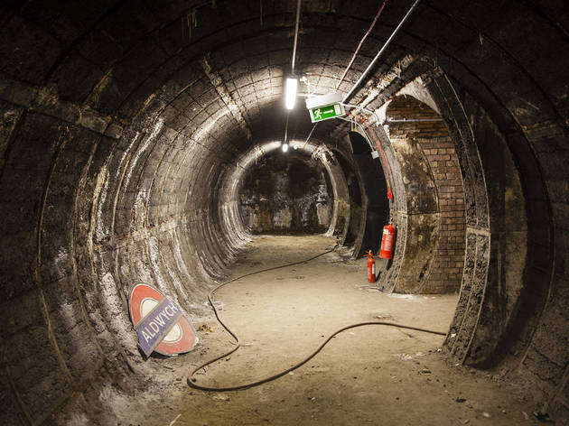Pics of the disused underground station at Aldwych / Strand