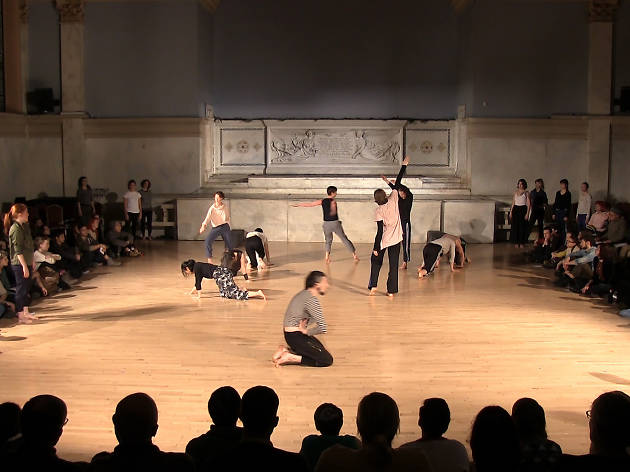 Performance view of Yoshiko Chuma + Jodi Melnick Workshop, 2018