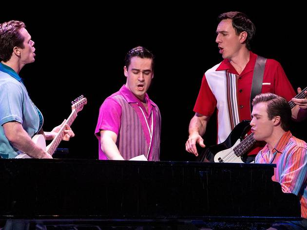 Production Shot on stage at Jersey Boys