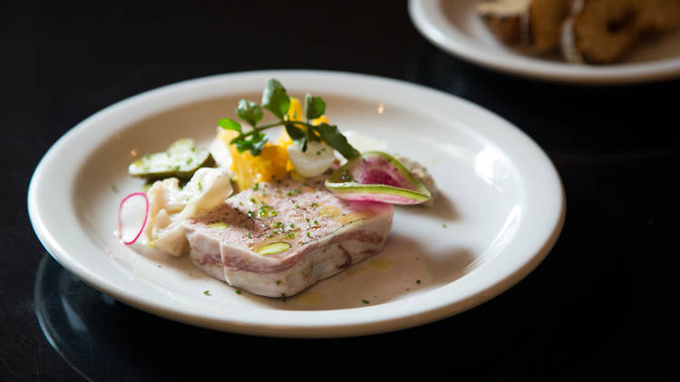 Terrina de veau de Havre 77 platillo, cocina francesa