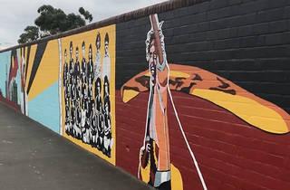 40,000 Years mural in Redfern