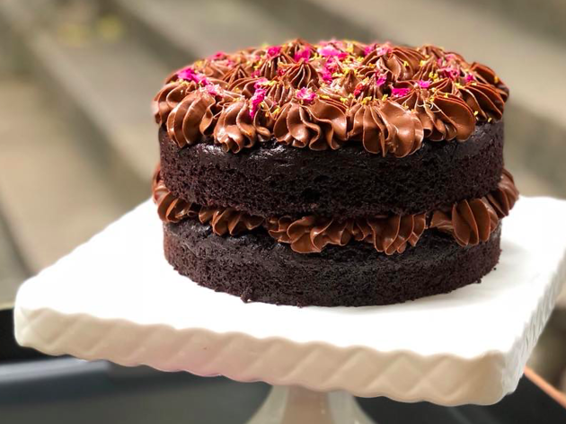 Sweetpea Cafe double chocolate vegan cake
