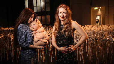 Discover one of Patricia Piccinini's creatures in this field