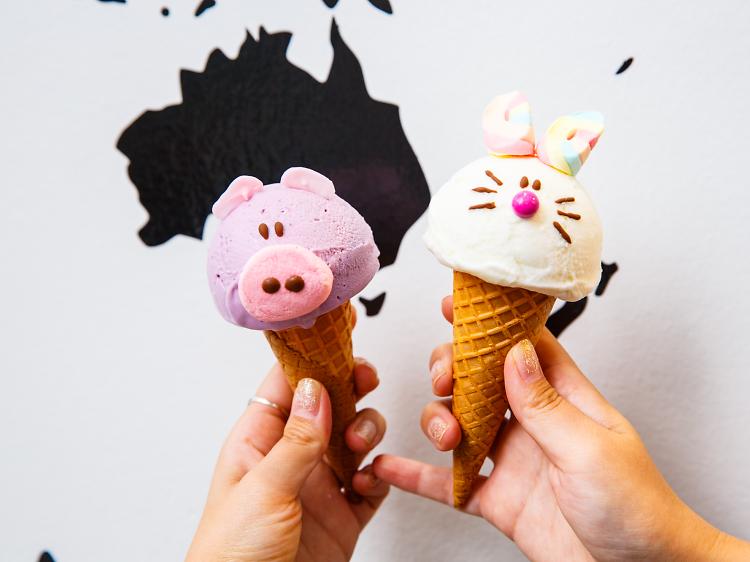 Animal ice cream cones