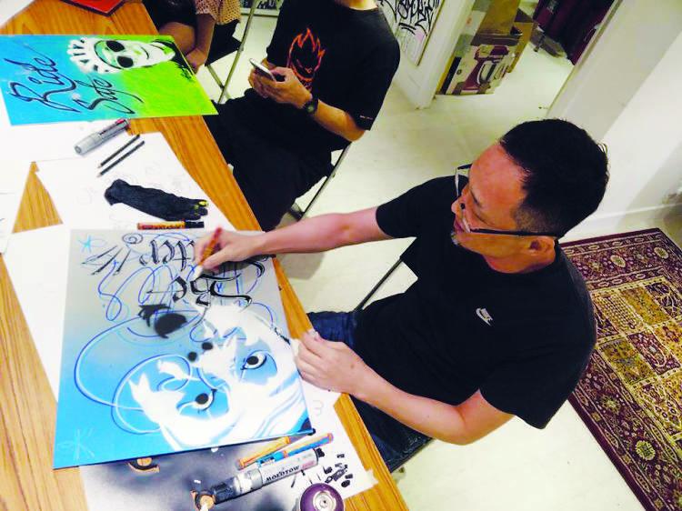Write the Future: Spray painting
