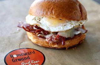 Hollywood breakfast sandwich from Homeward Ground